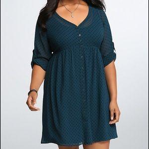 Torrid Polka Dot Shirt dress size 1, 14/16